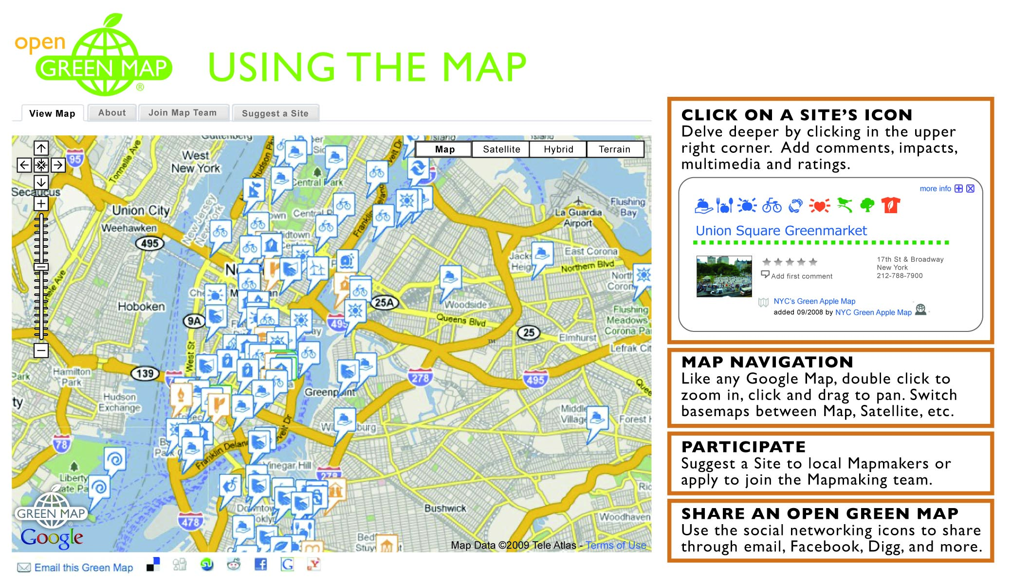 Share And Promote Open Green Maps Open Green Map - Picture of a map